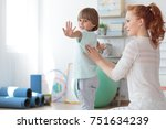 children physiotherapy and... | Shutterstock . vector #751634239