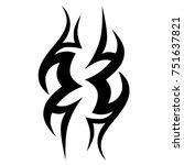 tattoo tribal vector design.... | Shutterstock .eps vector #751637821