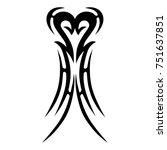 tattoo tribal vector design....   Shutterstock .eps vector #751637851