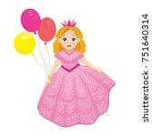 happy birthday cute fairy girl...   Shutterstock .eps vector #751640314
