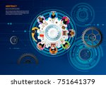 business meeting and... | Shutterstock .eps vector #751641379