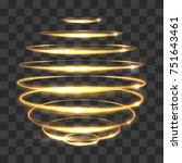 gold circle light tracing... | Shutterstock .eps vector #751643461