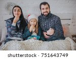 merry christmas and happy new... | Shutterstock . vector #751643749