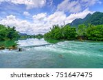beautiful landscape  quay son... | Shutterstock . vector #751647475
