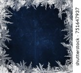 christmas blue background with... | Shutterstock . vector #751647937