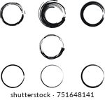 vector frames. circle for image.... | Shutterstock .eps vector #751648141