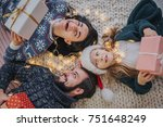 merry christmas and happy... | Shutterstock . vector #751648249