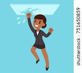 black business woman breaking...   Shutterstock .eps vector #751650859