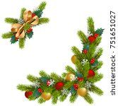 vector christmas corner... | Shutterstock .eps vector #751651027