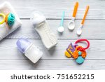 preparation of mixture baby... | Shutterstock . vector #751652215