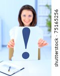 the beautiful business woman at ... | Shutterstock . vector #75165256