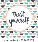 vector template of a greeting... | Shutterstock .eps vector #751652794