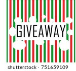 banner about holiday giveaway | Shutterstock .eps vector #751659109
