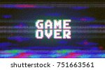 vector game over phrase in... | Shutterstock .eps vector #751663561