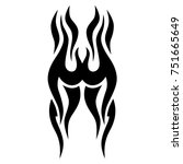 tattoo tribal vector design.... | Shutterstock .eps vector #751665649