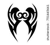 tattoo tribal vector design.... | Shutterstock .eps vector #751665661