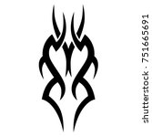 tattoo tribal vector design.... | Shutterstock .eps vector #751665691
