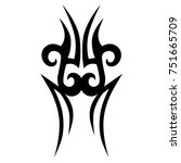tattoo tribal vector design.... | Shutterstock .eps vector #751665709