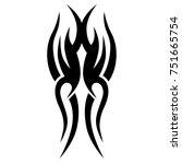 tattoo tribal vector design.... | Shutterstock .eps vector #751665754