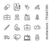 modern outline style medical... | Shutterstock .eps vector #751667281
