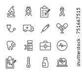 modern outline style healthcare
