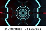 3d render of futuristic tunnel...   Shutterstock . vector #751667881