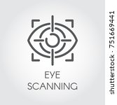 eye scanning line icon.... | Shutterstock .eps vector #751669441