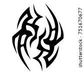 tattoos ideas designs   tribal... | Shutterstock .eps vector #751670677
