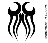 tattoo tribal designs. sketched ... | Shutterstock .eps vector #751670695