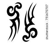 tattoo tribal vector designs.... | Shutterstock .eps vector #751670707