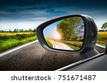 Reflected Road In Rearview...