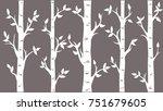 birch grove background. vector... | Shutterstock .eps vector #751679605