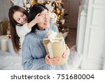 small adorable female kid... | Shutterstock . vector #751680004