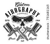 custom aerography company... | Shutterstock .eps vector #751681165