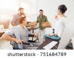 the office workers decided to... | Shutterstock . vector #751684789