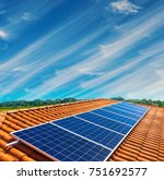 solar panel photovoltaic... | Shutterstock . vector #751692577