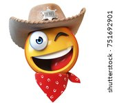 sheriff emoji isolated on white ... | Shutterstock . vector #751692901