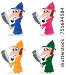 sherlock holmes vector...   Shutterstock .eps vector #751694584