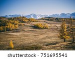 beautiful mountain autumn... | Shutterstock . vector #751695541