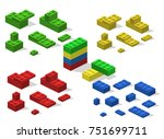 isometric 3d illustration toy... | Shutterstock . vector #751699711