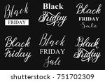 black friday sale typograply....   Shutterstock .eps vector #751702309