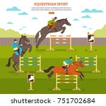 equestrian sport horse... | Shutterstock .eps vector #751702684