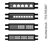 vector of network switch or...   Shutterstock .eps vector #751705387