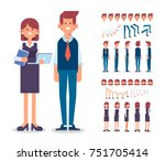 front  side  back  3 4 view... | Shutterstock .eps vector #751705414