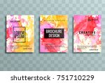 modern colorful business... | Shutterstock .eps vector #751710229