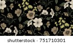 seamless floral pattern in... | Shutterstock .eps vector #751710301