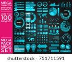 mega collection and mega set... | Shutterstock .eps vector #751711591