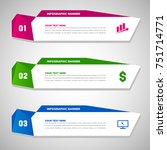 abstract infographic banners | Shutterstock .eps vector #751714771