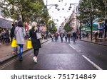 london  november  2017  two... | Shutterstock . vector #751714849
