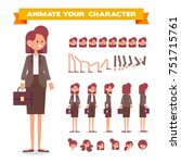 business woman character... | Shutterstock .eps vector #751715761